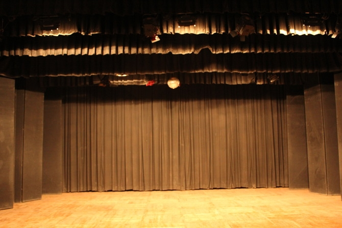 A full fledged Auditorium stage : Photography By Venkatesh A.G.